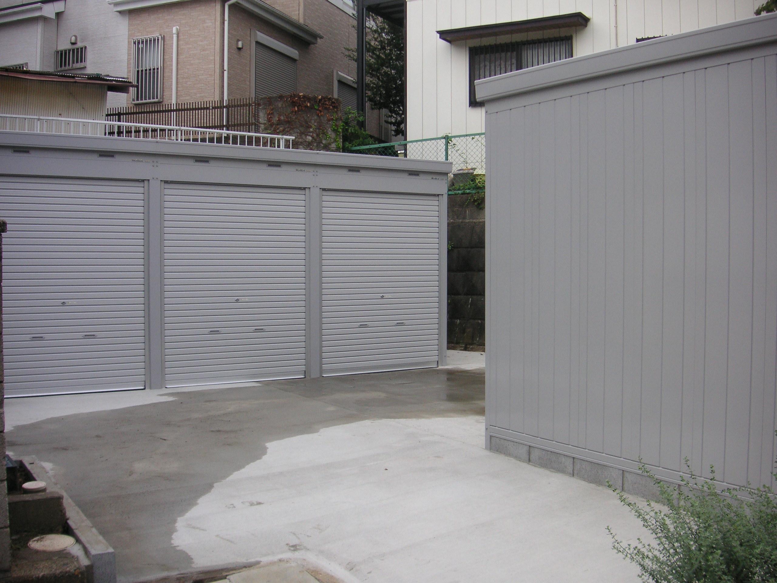 松戸市新作のバイクガレージ
